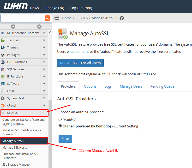 How to Use WHM/cPanel Free AutoSSL Certificate Screenshot 1