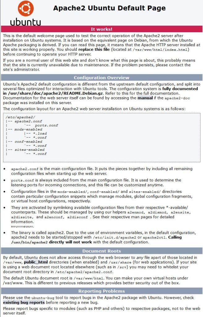 Apache Installation Verification