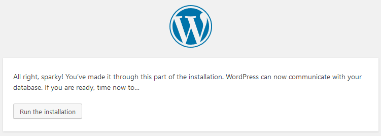 WordPress Setup Step 4